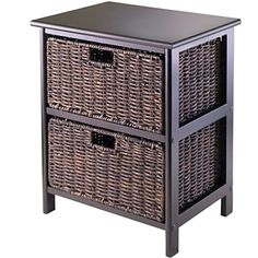 Office-Storage-Furniture-Wicker-Table-Bathroom-Cabinet-Rack-2-Baskets-Drawers