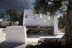 Luca Zanaroli Designs a Spacious Home in Bari Architecture Romane, Architecture Baroque, Contemporary Architecture, Landscape Architecture, Architecture Design, Outdoor Spaces, Outdoor Living, Outdoor Kitchen Design, Pool Houses