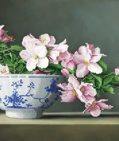 Arhive Flori - Page 8 of 11 - Broderii online Planter Pots, Embroidery, Plant Pots