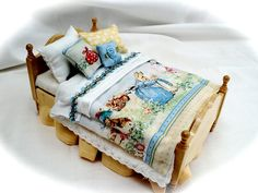 Mini beatrix potter bed