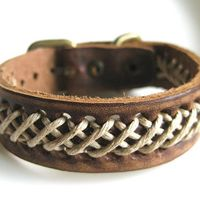Adjustable leather bracelet men bracelet by braceletbanglecase