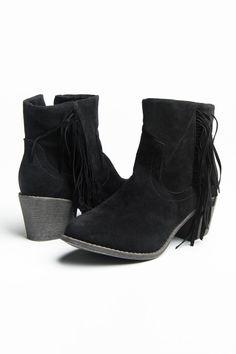 Black suede fringe heel boots | Ardene Official Online Store #ARDENEWISHLIST Black Suede, Heeled Boots, Wedges, Heels, Store, Fashion, High Heel Boots, Heel, Moda