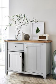 Buy Huntingdon Small Sideboard from the Next UK online shop Hallway Sideboard, Hallway Cabinet, Sideboard Decor, Dining Room Sideboard, Small Sideboard, Kitchen Dresser, Hallway Unit, Dining Cabinet, Console Cabinet