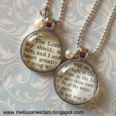 Get ANY Bible verse made into a custom pendant necklace for only $18. Post includes discount code good through Aug 31.