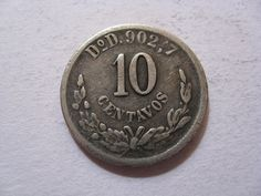 1895 silver mexican 10 centavos coin by DrewsCollectibles on Etsy, $6.00