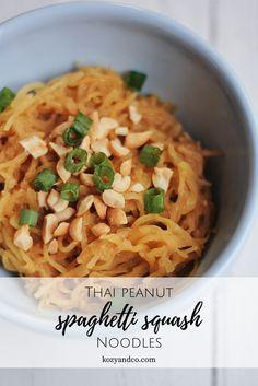 Thai peanut spaghett