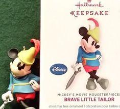 e685c0a9cda 2013 Hallmark Mickey Mouse Brave Little Tailor In Series Disney Ornament MIB