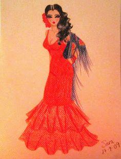 Los dibujos de Sara: ¡¡Pasión gitana y sangre española!! olééé