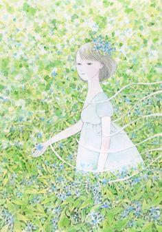 2015年8月7日  朝日新聞出版刊「花嫁の花 (朝日文庫)」 瀧羽 麻子/著*カバーイラストを描かせて頂きました。詳細→☆