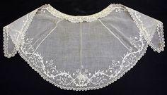Fichu Fichu Date: ca. 1835 Culture: American Medium: cotton Dimensions: Length at CB: 16 in. (40.6 cm) Credit Line: Purchase, Irene Lewisohn Bequest, 1955