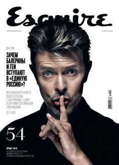 David Bowie on the cover of Esquire magazine Russia, April 2010.