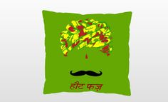 Hot Fuzz Pagadi Stache Pillow by Enthucutlet on Etsy, $45.00
