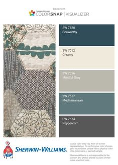 Color options for living and dining rooms.