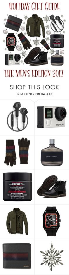 """""""Holiday Gift Guide: The Men's Edition"""" by latoyacl ❤ liked on Polyvore featuring B&O Play, Billabong, Topman, John Varvatos, Kiehl's, Jorg Gray, Paul Smith, Parlane, Shishi and men's fashion"""
