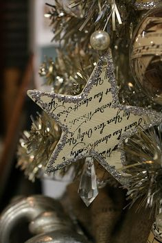 Text or Sheet Music Ornament