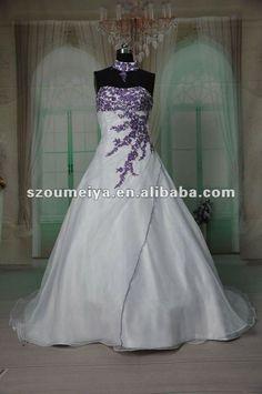 purple wedding dresses | ... Shipping ORW215 Purple and White Organza Magazine Style Wedding Dress