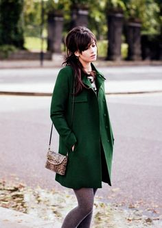 Love this green coat!