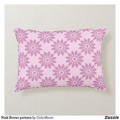 Pink flower pattern accent pillow Soft Pillows, Accent Pillows, Throw Pillows, Pink Cushions, Flower Pillow, Soft Light, Decorative Cushions, Party Hats, Flower Patterns
