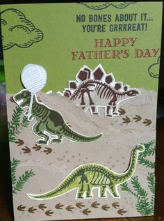 No Bones about it! Stampin Up. Male card, fathers day. Design by Yvonne Potterton
