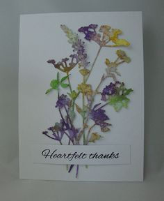 My favorite die, the Wildflowers designed by Tim Holtz.