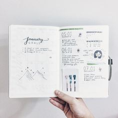 "145 Likes, 3 Comments - l y n n (@hwangmyeons) on Instagram: ""January week 1 inspired by @focusign and @feebujo #ldlweekly . . First post as a studygram!…"""