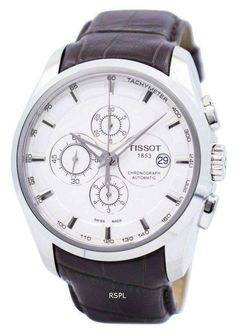 we are lowest price watches supplier of watches like, Tissot T-Trend Couturier Automatic Men's Watch it has Stainless Steel Case, Brown Leather Strap, Automatic Movement, Caliber: