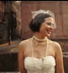 Love this look. All the pearls and necklaces are amazing.