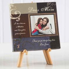 Dear Mom Personalized Photo Canvas Print- 5½ x 5½