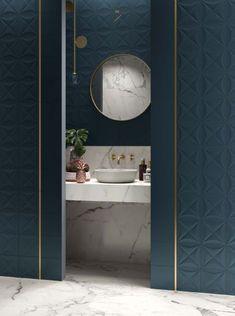 I want: an art deco bathroom! Deco Clem Around The Corner Art Deco Bathroom, Spa Like Bathroom, Bathroom Toilets, Modern Bathroom, Master Bathroom, Bathroom Marble, Bronze Bathroom, Contemporary Bathrooms, Bad Inspiration