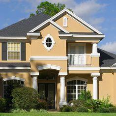 Produse pentru amenajari interioare Best Exterior Paint, Exterior Paint Colors For House, Paint Colors For Home, Exterior Colors, Exterior Design, Modern Exterior, Paint Colours, Wall Colors, Exterior Houses