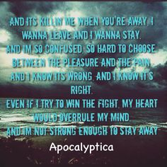 Not Strong Enough - Apocalyptica (feat. Brent Smith of Shinedown) Shinedown Lyrics, Music Lyrics, Song Memes, Lyric Quotes, Kinds Of Music, Music Is Life, Story Lyrics, Brent Smith, Music Heals