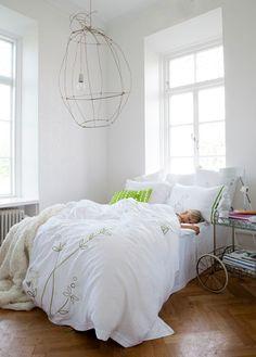 Jag vill ha ljuvliga lakan i sängen. Här från Mimou.