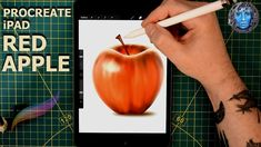 Drawing and painting a red apple in Procreate on the iPad. Creating shapes, layers and painting techniques to create an authentic looking red apple. An iPad . Concrete Leaves, New Ipad, Red Apple, Frames On Wall, Painting Techniques, Ipad Mini, Make It Yourself, Drawings, Crafts