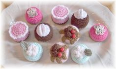 Crochet Mini Petit Fours....PDF Pattern by KTBdesigns on Etsy, $6.00