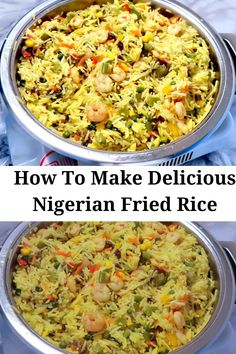 Nigerian Fried Rice, Nigerian Food, Parboiled Rice, Fried Vegetables, Best Food Ever, African Recipes, Chicken Seasoning, Rice Recipes, Fries