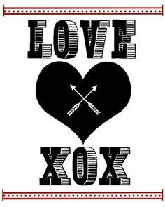 Valentine's Day Free Printable: Love XOX