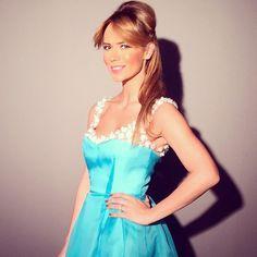 Precious @magda_palimariu in #parlor embelished organza dress at @vivaromania Garden Party #parlordress #parlorparty #glam