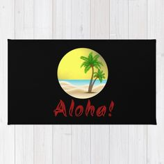 Aloha Hawaii Summer Beach Palm Trees Rug Home Decoration Ideas Summer Beach, Summer Vibes, Aloha Hawaii, Holiday Outfits, Palm Trees, Rugs, Cool Stuff, Decoration, Inspiration