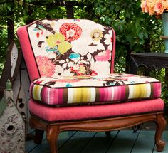 theSamantha Slipper Chair - Redressed with floral attitude. $1,800.00, via Etsy.  the florals are gorg-wha!  uploaded by loridennis.com
