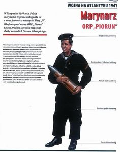 Polish sailor in the Battle of the Atlantic Ww2 Uniforms, Navy Uniforms, Ww2 History, History Books, Military Archives, Navy Air Force, Central And Eastern Europe, Defence Force, Army & Navy