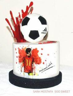 Super birthday cake boys easy ideas #cake #birthday Birthday Cakes For Men, Football Birthday Cake, Cakes For Boys, Cake Birthday, Birthday Boys, Buttercream Cake, Fondant Cakes, Liverpool Cake, Soccer Cake