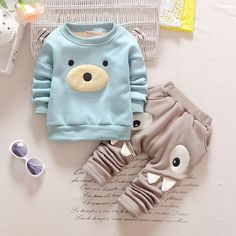 Wholesale Boutique Baby Boys Clothing Sets Autumn Winter Boy Set Sport Suits 2 Pieces Kids Clothes from Our website with high quality and fast shipping worldwide. Baby Outfits, Kids Outfits, Newborn Outfits, Baby Boy Clothing Sets, Baby Kids Clothes, Girl Clothing, Bear Clothing, Boutique Clothing, Baby Boy Fashion