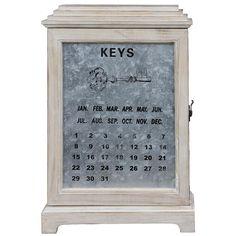 Porta Chaves Armário Keys c/ Calendário Oldway - 46x32 cm
