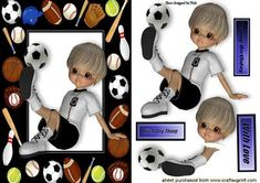 BOY HAVING A KICK ABOUT IN SPORTS FRAME on Craftsuprint - Add To Basket!
