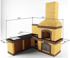 Barbecue Design, Outdoor Barbeque, Brick Bbq, Backyard Fireplace, Bbq Area, 3d Warehouse, Earthship, Outdoor Kitchen Design, Brickwork