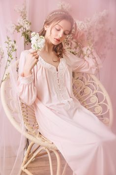 Style S 16009 Fabric Modal Size Length Bust Sleeves XS in. = 119 cm in. = 88 - 92 cm in. = 62 cm S 48 in. = 122 cm in. = 92 - 96 cm in. = 125 cm in. - = 96 - 98 cm in. = 63 cm L in. = 128 cm in. Cotton Nighties, Cotton Lace, Vintage Lingerie, Women Lingerie, Royal Fashion, Girl Fashion, Vintage Nightgown, Pyjamas, Couture
