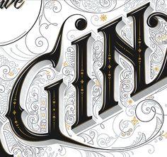 Hello gorgeous detail! I want to work on adding decorative elements to my lettering too. By Anton Burmistrov via typeverything.com