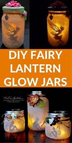 How to make mason jar fairy lanterns. These DIY fairy jars are a great home decor night item. Whether it's Christmas or summer, these glow jars are great for any time of the year!