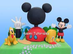 Kaomi Tutoriales: Cómo hacer la Casa Club de Mickey / How to make Mickey Mouse Clubhouse