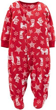 Carter's Unisex Baby Christmas Sleep N Play Footie (Baby) - Red Print  Carter's Christmas Sleep N Play Footie (Baby) - Red Print Carter's is the leading brand of children's clothing, gifts and accessories in America, selling more than 10 products for every child born in the U.S. Our designs are based on a heritage of quality and innovation that has earned us the trust of generations of families. Snaps from chin to ankle for easy on and off. Nickel-free snaps last through all those changes. A…